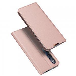 Dux Ducis чехол книжка для Xiaomi Mi 10 / Mi 10 Pro / 10 Pro с магнитом и отделением для карты - Розовый