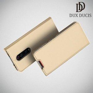 Dux Ducis чехол книжка для Xiaomi Mi 9T с магнитом и отделением для карты - Золотой