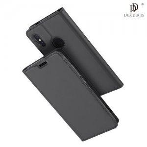 Dux Ducis чехол книжка для Xiaomi Mi 6x / Mi A2 с магнитом и отделением для карты - Серый