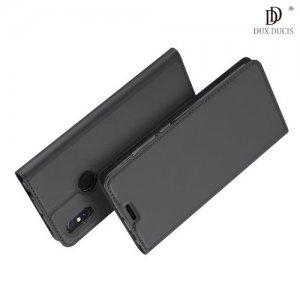 Dux Ducis чехол книжка для Xiaomi Mi Max 3 с магнитом и отделением для карты - Серый