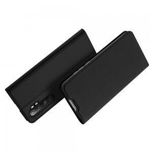 Dux Ducis чехол книжка для Xiaomi Mi Note 10 Lite с магнитом и отделением для карты - Черный