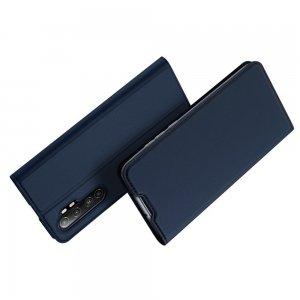 Dux Ducis чехол книжка для Xiaomi Mi Note 10 Lite с магнитом и отделением для карты - Синий