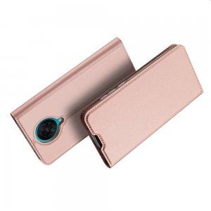 Dux Ducis чехол книжка для Xiaomi Poco F2 Pro с магнитом и отделением для карты - Розовый