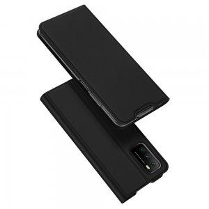 Dux Ducis чехол книжка для Xiaomi Poco M3 с магнитом и отделением для карты - Черный