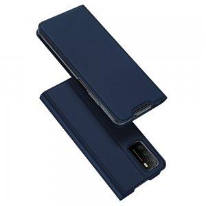 Dux Ducis чехол книжка для Xiaomi Poco M3 с магнитом и отделением для карты - Синий