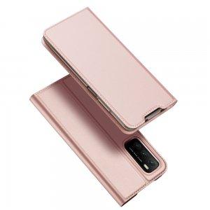 Dux Ducis чехол книжка для Xiaomi Poco M3 с магнитом и отделением для карты - Светло Розовый