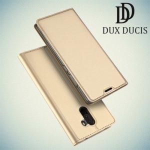 Dux Ducis чехол книжка для Xiaomi Pocophone F1 с магнитом и отделением для карты - Золотой