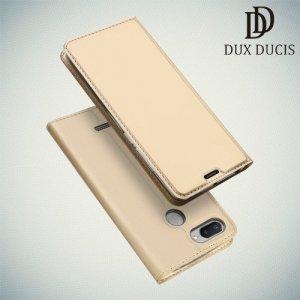 Dux Ducis чехол книжка для Xiaomi Redmi 6 с магнитом и отделением для карты - Золотой