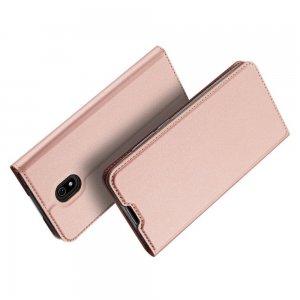 Dux Ducis чехол книжка для Xiaomi Redmi 8A с магнитом и отделением для карты - Светло-Розовый
