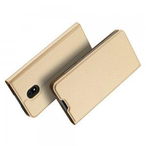 Dux Ducis чехол книжка для Xiaomi Redmi 8A с магнитом и отделением для карты - Золотой