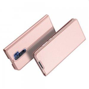 Dux Ducis чехол книжка для Xiaomi Redmi 9 с магнитом и отделением для карты - Розовый