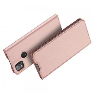 Dux Ducis чехол книжка для Xiaomi Redmi 9C с магнитом и отделением для карты - Розовый