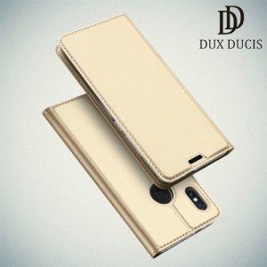 Dux Ducis чехол книжка для Xiaomi Redmi Note 5 / 5 Pro с магнитом и отделением для карты - Золотой