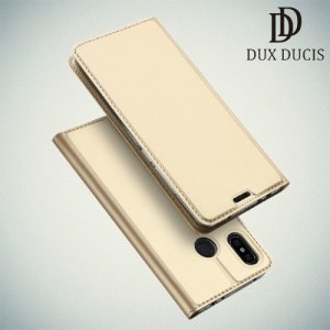 Dux Ducis чехол книжка для Xiaomi Redmi Note 6 / Note 6 Pro с магнитом и отделением для карты - Золотой