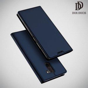 Dux Ducis чехол книжка для Xiaomi Redmi Note 8 Pro с магнитом и отделением для карты - Синий