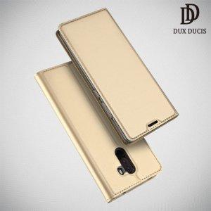 Dux Ducis чехол книжка для Xiaomi Redmi Note 8 Pro с магнитом и отделением для карты - Золотой