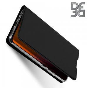 Dux Ducis чехол книжка для Xiaomi Redmi Note 8 с магнитом и отделением для карты - Черный