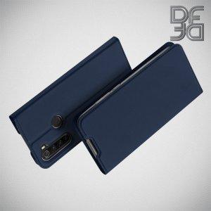 Dux Ducis чехол книжка для Xiaomi Redmi Note 8 с магнитом и отделением для карты - Синий
