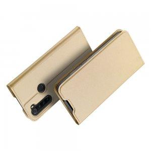 Dux Ducis чехол книжка для Xiaomi Redmi Note 8 с магнитом и отделением для карты - Золотой