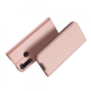 Dux Ducis чехол книжка для Xiaomi Redmi Note 8T с магнитом и отделением для карты - Светло-Розовый