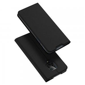 Dux Ducis чехол книжка для Xiaomi Redmi Note 9 Pro (9S,9 Pro Max) с магнитом и отделением для карты - Черный