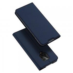 Dux Ducis чехол книжка для Xiaomi Redmi Note 9 Pro (9S,9 Pro Max) с магнитом и отделением для карты - Синий