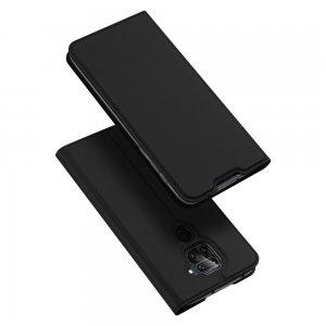 Dux Ducis чехол книжка для Xiaomi Redmi Note 9 с магнитом и отделением для карты - Черный