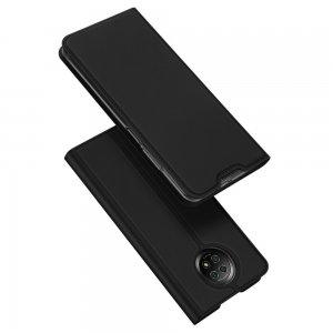 Dux Ducis чехол книжка для Xiaomi Redmi Note 9T с магнитом и отделением для карты - Черный