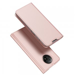 Dux Ducis чехол книжка для Xiaomi Redmi Note 9T с магнитом и отделением для карты - Светло Розовый