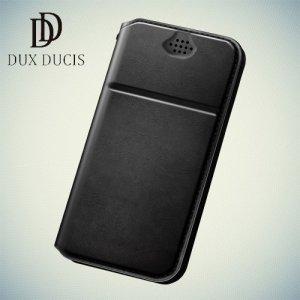 Dux Ducis Every универсальный чехол книжка из гладкой экокожи для смартфона 4.7-5.0 дюймов - Черный