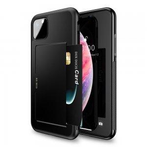 DUX DUCIS Тонкий Чехол для Телефона iPhone 11 Pro Max с Покрытием из Искусственной Кожи Черный