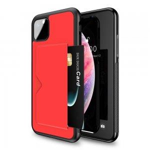 DUX DUCIS Тонкий Чехол для Телефона iPhone 11 Pro Max с Покрытием из Искусственной Кожи Красный