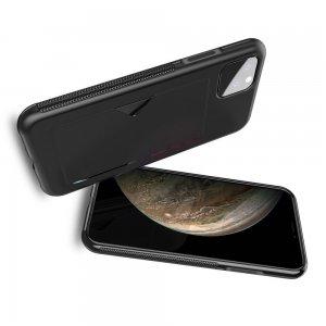 DUX DUCIS Тонкий Чехол для Телефона iPhone 11 XI с Покрытием из Искусственной Кожи Черный