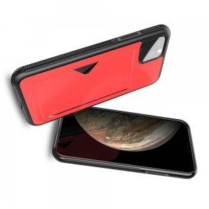 DUX DUCIS Тонкий Чехол для Телефона iPhone 11 XI с Покрытием из Искусственной Кожи Красный
