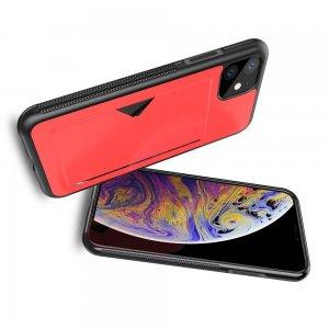 DUX DUCIS Тонкий Чехол для Телефона iPhone 11 с Покрытием из Искусственной Кожи Красный