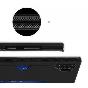 DUX DUCIS Тонкий Чехол для Телефона Samsung Galaxy Note 10 Plus / 10+ с Покрытием из Искусственной Кожи Черный
