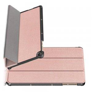 Двухсторонний чехол книжка для Huawei MatePad T10 / T10s с подставкой - Розовое Золото