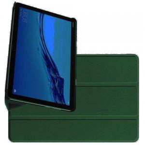 Двухсторонний чехол книжка для Huawei Mediapad M5 Lite 10 с подставкой -  Тёмно-Зеленый