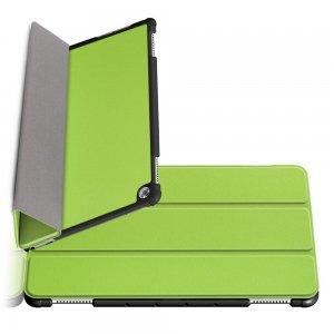Двухсторонний чехол книжка для Huawei Mediapad M5 Lite 10 с подставкой - Зеленый