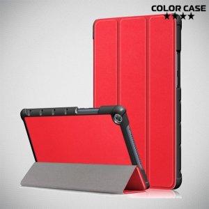 Двухсторонний чехол книжка для Huawei MediaPad M5 Lite 8 с подставкой - Красный