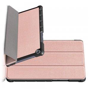 Двухсторонний чехол книжка для Huawei MediaPad M5 Lite 8 с подставкой - Розовое Золото