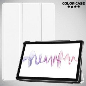 Двухсторонний чехол книжка для Huawei MediaPad M6 10.8 с подставкой - Белый