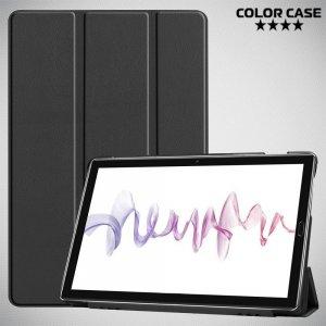 Двухсторонний чехол книжка для Huawei MediaPad M6 10.8 с подставкой - Черный