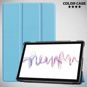 Двухсторонний чехол книжка для Huawei MediaPad M6 10.8 с подставкой - Голубой