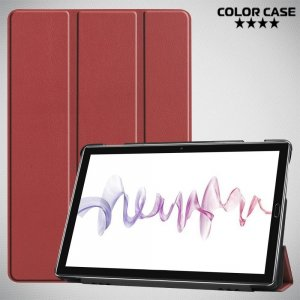 Двухсторонний чехол книжка для Huawei MediaPad M6 10.8 с подставкой - Коричневый