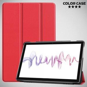 Двухсторонний чехол книжка для Huawei MediaPad M6 10.8 с подставкой - Красный