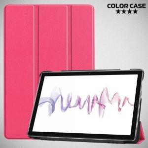 Двухсторонний чехол книжка для Huawei MediaPad M6 10.8 с подставкой - Розовый