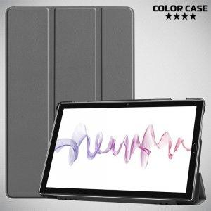 Двухсторонний чехол книжка для Huawei MediaPad M6 10.8 с подставкой - Серый