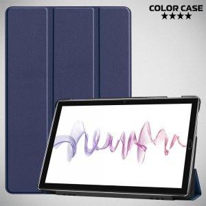 Двухсторонний чехол книжка для Huawei MediaPad M6 10.8 с подставкой - Синий
