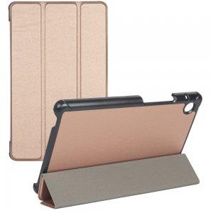 Двухсторонний чехол книжка для Huawei MediaPad T8 8.0 с подставкой - Золотой